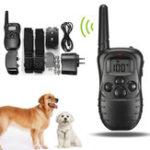 Оригинал Перезаряжаемый и Водонепроницаемы LCD Pet Собака Тренировочный ошейник Анти Контроль коры для 2 собак