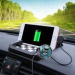 Оригинал Многофункциональный Авто Anti-skid Dashboard Pad Магнитный держатель зарядное устройство для iPhone Samsung Xiaomi Huawei