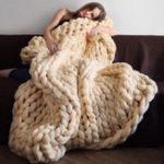 Оригинал Honana WX-685 Warm Winter Роскошная ручная вязанная вязаная кровать с трикотажным покрывалом для обложки с обложкой из теплого толстого нитка с трико