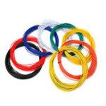 Оригинал Excellway® 1007 Провод 10 метров 18AWG 2.1 мм ПВХ электронный кабель изолированный LED Провод Для DIY