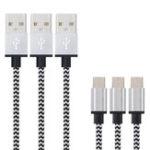 Оригинал Bakeey 1.2M USB3.1 Type-C 2A Nylon Плетеный зарядный кабель для Samsung S8 Letv Xiaomi 6 mi5 mi6