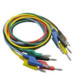 Оригинал P1036 5Pcs 1M 4 мм банана до Banana Plug Кабельный провод для Мультиметр 5 цветов