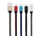 Оригинал Bakeey 2.4A Type C Плетеный быстрый зарядный кабель 1 м для Oneplus 5t Xiaomi 6 Mi A1 Mix 2 S8 Note 8