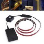 Оригинал ARILUX® Батарея Powered 1M SMD2835 Warm White Motion Датчик LED Газа для домашнего декора DC5V