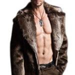 Оригинал Большая куртка из искусственной шерсти для лайнера Warm Furry для мужчин