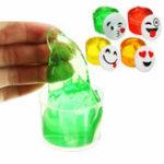 Оригинал Emoji Face Slime Cup Bottle Crystal Mud Random Emoji Kids Взрослые Подарочный стресс Ослабление Декомпрессионная игрушка