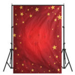 Оригинал 5X7ft Рождественские красные темы звезды Виниловая фотография Studio Backdrop Фото Prop Background