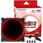 Оригинал Segotep 120mm 3Pin 4Pin Smart LED Aureole Бесшумный Охладитель охладителя Охладитель Красный Синий Зеленый Белый