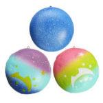 Оригинал Squishy Starry Night Star Moon Bun Bread 9cm Gift Soft Медленное восхождение с игрушками для упаковки