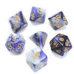 Оригинал Новый 7-элементный Polyhedral Blend Blue Кости Комплект с Кости Сумка D & D RPG
