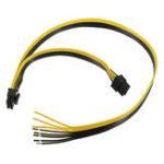 Оригинал Двойной PCI-E PCIE 8pin DIY Кабель питания для кабеля Ethernet Видеокарты