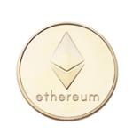 Оригинал Позолоченные монеты с монетным дном Ethereum Коллекционирование Mteal Art Античные монеты EDC Gadget