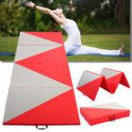 Оригинал 118x47x1.96inch4FoldingPanelGymnasticsMat Super Large Yoga Тренажерный тренажер Упражнение Tumbling Pad