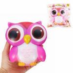 Оригинал SanQi Elan Squishy Owl 15cm Gift Soft Медленный рост с упаковкой Cute Animals Collection Decor Toy