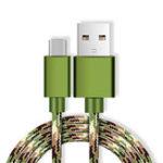 Оригинал Bakeey 2A Камуфляж Nylon Weave Line Type-C USB USB-кабель для зарядки 1 м для Samsung S8 Xiaomi 6