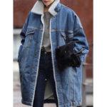 Оригинал Повседневная одежда Женское Warm Fleece Thicken Denim Coats
