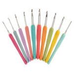 Оригинал 10 шт крючком крючки набор Soft многоцветный Эргономичный крючки крючком вязальные спицы ткачество ремесло