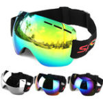 Оригинал мотоцикл Goggles Anti-Fog UV Skiing Snowboard Racing Солнцезащитные очки Снежное зеркало Очки