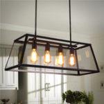 Оригинал 4 Head Промышленная люстра LED Потолочный светильник Modern Large Кулон Лампа для кухонной комнаты AC110-220V