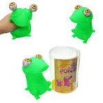 Оригинал Pop Eyes Squishy Gift Stress Reliever Игрушка Frog Animal Funny Toy с розничной торговлей Коробка