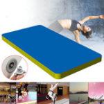 Оригинал 197×35.4×3.9дюймовНадувнаягимнастикаМатЧерлидинг Air Track Floor Tumbling Training Pad Blue