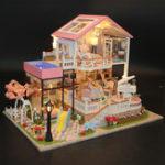 Оригинал Hoomeda 13846 Sweet Words DIY Дом с мебелью Музыкальная обложка Авто Миниатюрная модель Подарочный декор