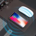 Оригинал Qi Беспроводное зарядное устройство Desktop Органайзер Мышь Pad для Samsung S8 Примечание iPhone 8 Plus X