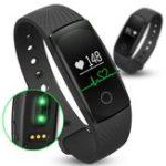 Оригинал ID107 Сердце Оценить Smart Стандарты Anti-lost Alert Bluetooth LED Smart Sport Wrist Стандарты