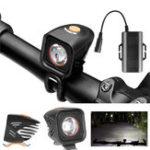 Оригинал XANESXL111000LMXML-2LEDВелосипедная фара IPX6 180 ° Прожектор 4 Режимы Мощность Дисплей Интеллектуальный контроль температуры с помощью