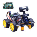 Оригинал Xiao R DIY Smart Robot Wifi Видеоконтроль Авто с камера Gimbal Arduino UNO R3 Board