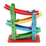Оригинал  ДеревяннаялестницаFlyingАвтоWoodSlot Track Авто Раздвижные модели Игрушки для детей Детский образовательный подарок