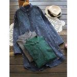 Оригинал Mori Girl Star печатная повседневная вышивальная блузка