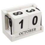 Оригинал Винтаж Средиземноморский стиль древесины Вечный DIY Календарь Художественные ремесла Офис Школа Отделка стола