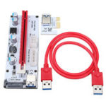 Оригинал VER 008S USB3.0 PCI-E Express 1x до 16x Extension Cable Extender Riser Card для 8-гигабайтных графических карт