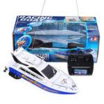 Оригинал 4CH Мини Радио Дистанционное Управление RC Электрические высокоскоростные гонки Лодка Корабль Kids Toy