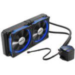 Оригинал Segotep Integrated 240 CPU Cooler Cooler с двойным 120 мм LED Охлаждающий вентилятор