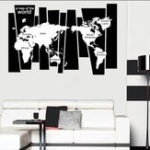 Оригинал 75*105CMЧернаякарта мира путешествий Карта плаката