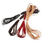 Оригинал 5m Кожаный ремешок из плоской полосы Шнур шнура Провод Браслет ювелирных изделий DIY Ремень Ремень 3 мм