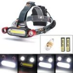 Оригинал BIKIGHT 1300LM 2 x XM-L T6 LED COB Аккумуляторная батарея 18650 Battey Headlamp Head Light Torch