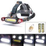 Оригинал BIKIGHT1300LM2xXM-LT6 LED COB Аккумуляторная батарея 18650 Battey Headlamp Head Light Torch