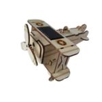 Оригинал DIY 16 * 17.5 * 10cm Деревянный Солнечная Биплан Самолет с самолетом Солнечная