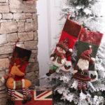Оригинал Рождество Носки Подарок Сумка Украшения из елки Дед Мороз Снеговик Лось Желание Сумка