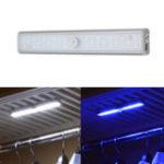 Оригинал ARILUX® Portable 20 White LED и 8 UV LED USB перезаряжаемый PIR Motion Датчик Night Night Light