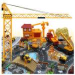 Оригинал 200PCSИнженернаястроительнаяплощадкаСцена,модельный набор для детей Детские рождественские игрушки