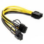 Оригинал PCIe 8pin для двух 8-контактных (6 + 2) PCI Express графических разъемов питания Кабель для видеокарты