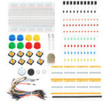 Оригинал KS Starter Learning Set DIY Electronic Набор Для Arduino Резистор / LED / Конденсатор / Jumper Провода / Макетная / Потенциометр / Зуммер / Переключатель / 40-контактный р