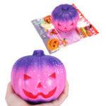 Оригинал SanQi Elan Squishy Pumpkin 12cm Galaxy Multicolor Soft Медленное восхождение с игрушкой для сбора пакетов