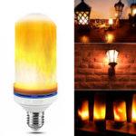 Оригинал E27 190MM Flame Effect Fire LED Кукурузная лампа для украшения AC85-265V