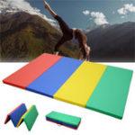 Оригинал 70x47x1.97inchСкладнаягимнастикаПанельнаягимнастикаУпражнение Yoga Pad Tumbling Фитнес Mat