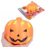 Оригинал SanQi Elan Squishy Pumpkin 12cm Gift Soft Медленный рост с упаковкой Коллекция Halloween Decor Toy